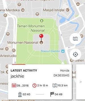 Fitur Share LokasiAlat Pelacak GPS