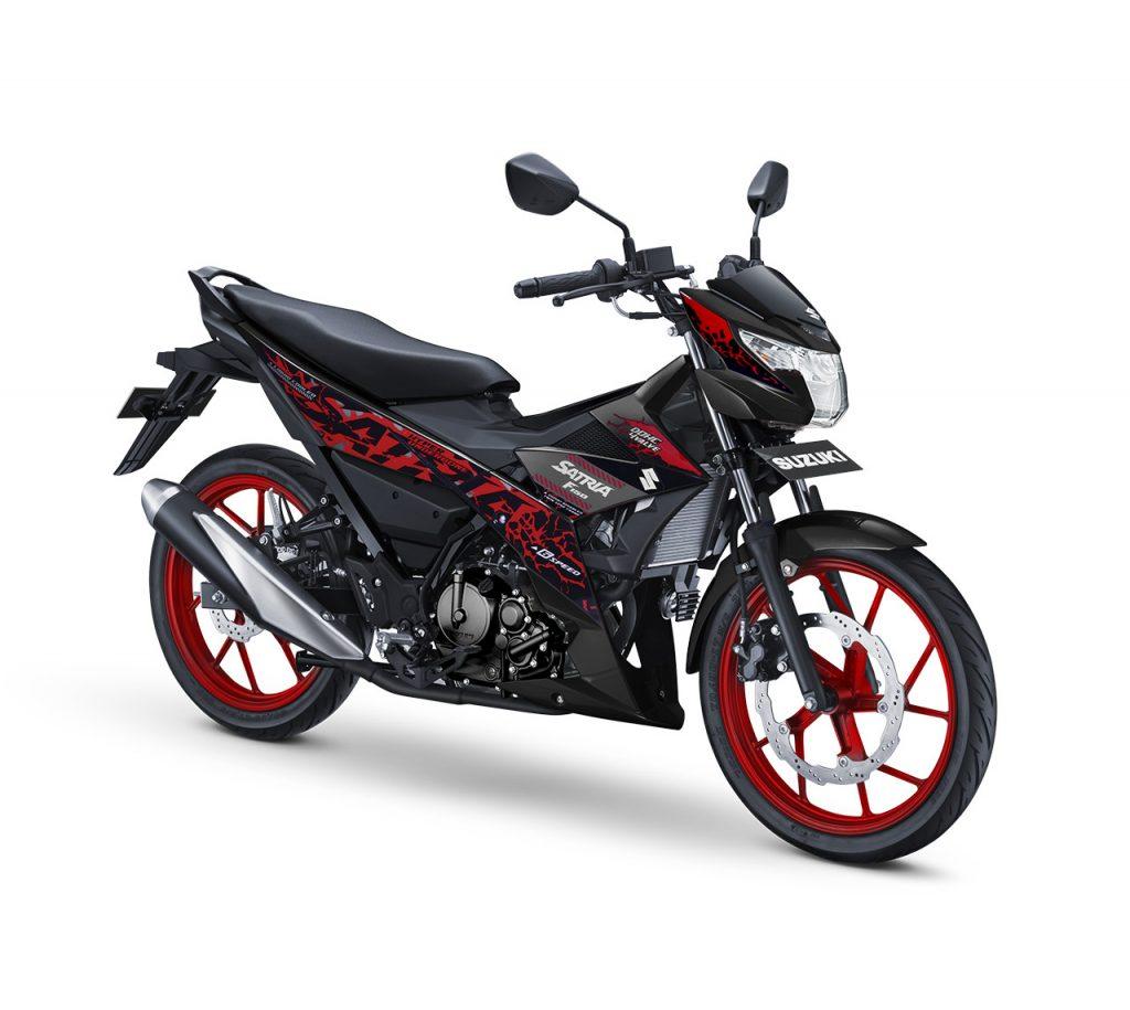 warna baru Satria F150 Titan Black - Red CW