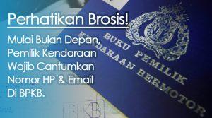 nomor telepon dan email di BPKB