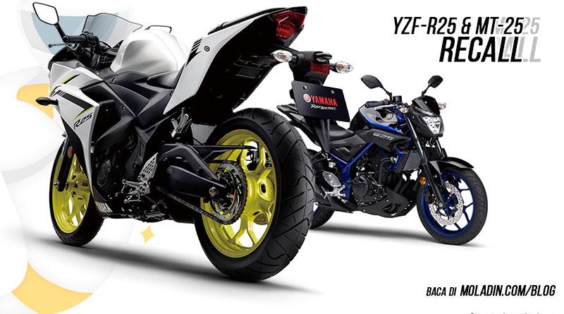 Yamaha R25 dan MT-25 Kena Recall