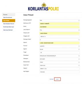 formulir pendaftaran sim online dua