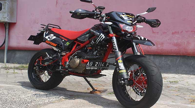 Konsep modifikasi yang diangkat bertemakan Full Racing Supermoto