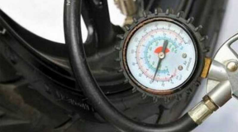 ban motor bergelombang cek angin