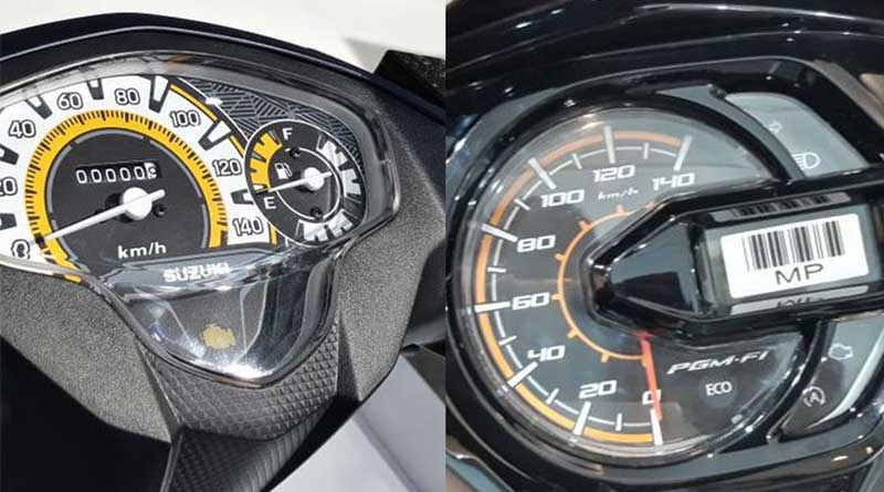 Suzuki Nex II atau Honda BeAT eSP speedometer