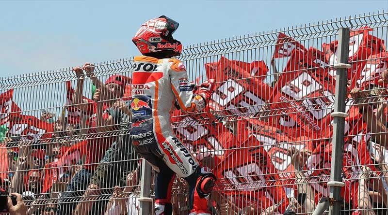 Selebrasi kemenangan Marquez