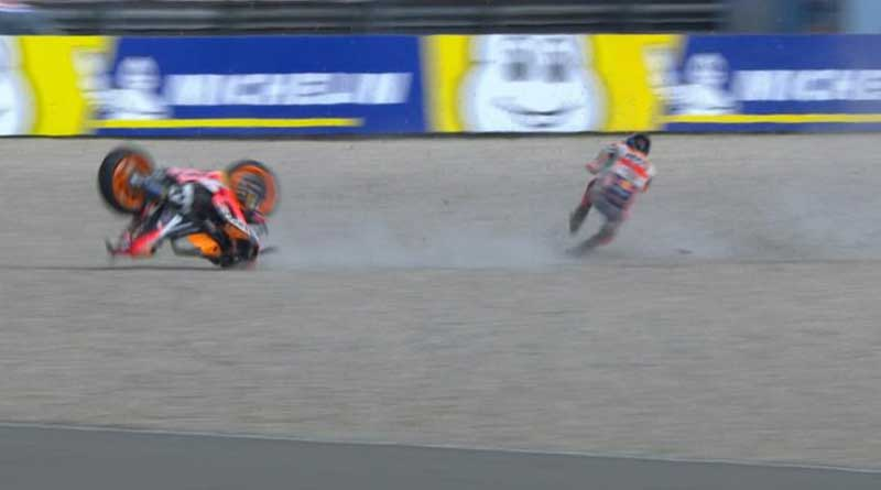 Crash Jorge Lorenzo