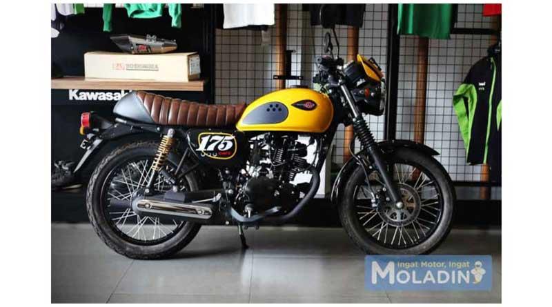 Motor Klasik Kawasaki W 175 Cafe