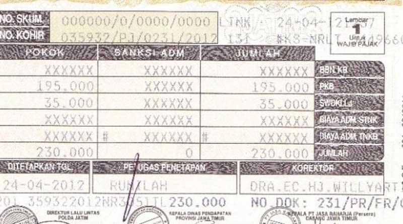 denda pajak motor di stnk