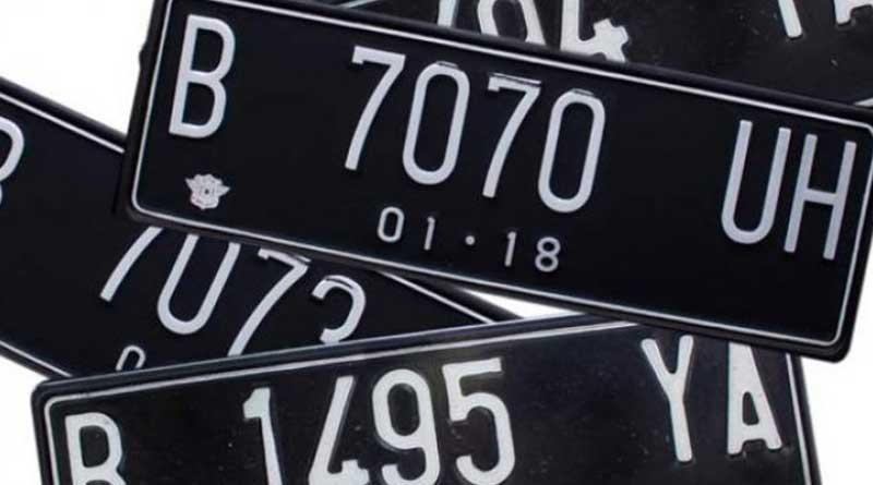 TNKB atau plat nomor kendaraan