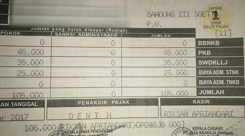 stnk tarif pkb