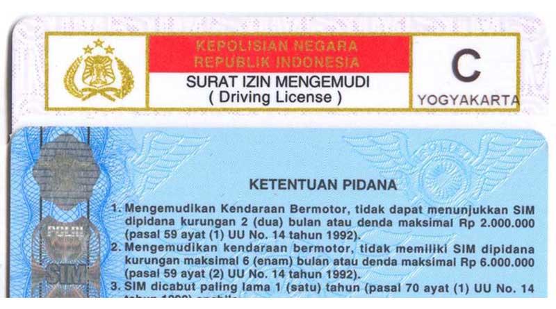 SIM C Yogyakarta