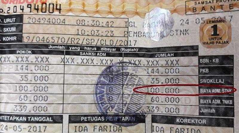 bayar pajak kendaraan.