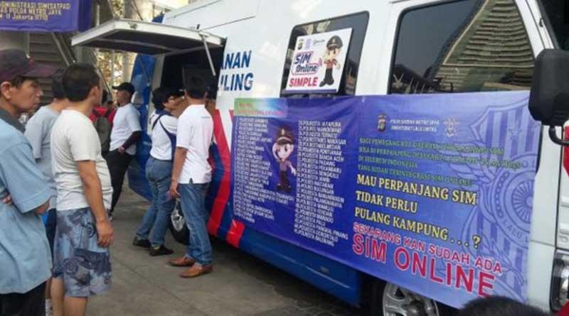 Biaya Perpanjangan SIM lewat layanan sim keliling