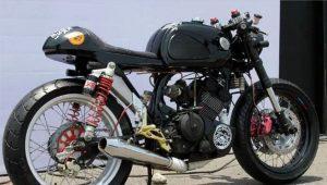 Modifikasi Satria FU Cafe Racer