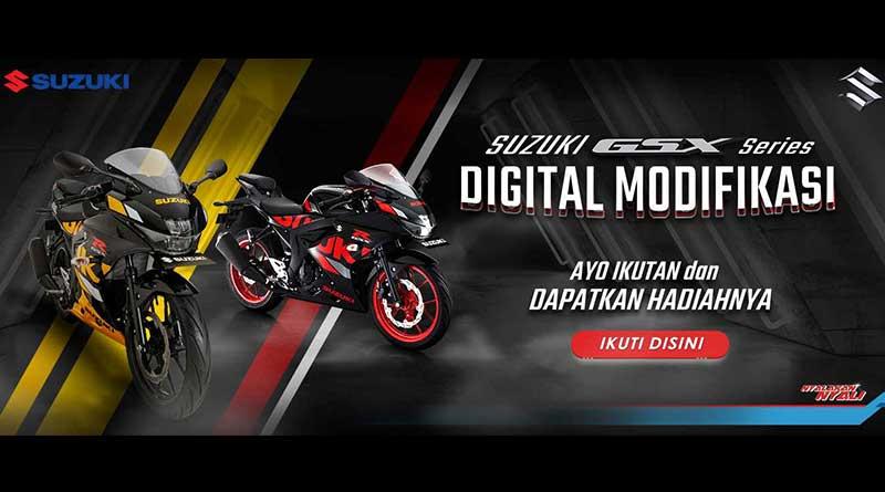 Kompetisi Modifikasi Digital Suzuki GSX Series, Hadiah Jutaan Rupiah!