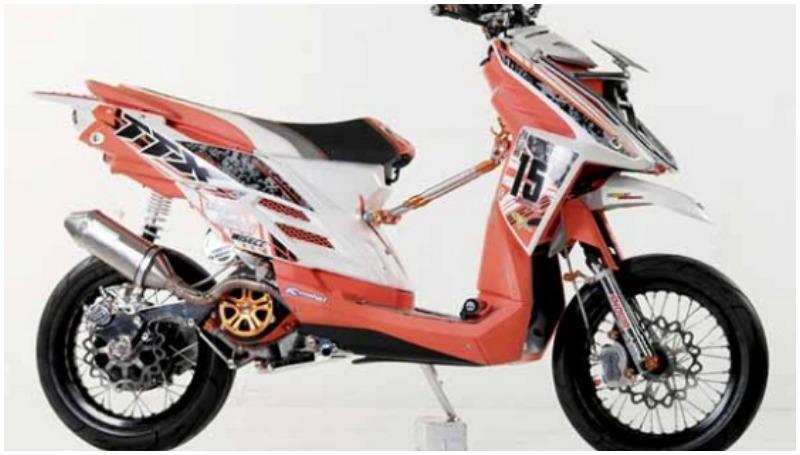 modifikasi motor X-Ride konsep supermoto