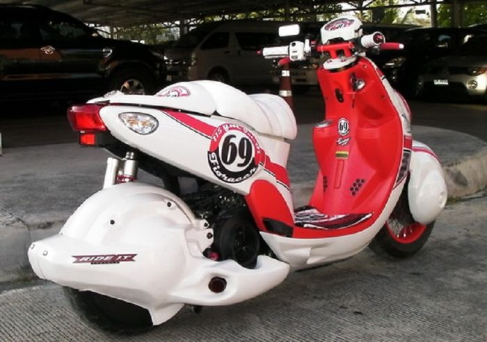 Yamaha Fino modifikasi Retro
