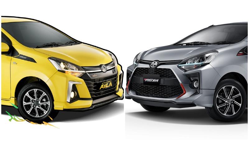 agya vs ayla mobil LCGC yang tersedia di Indonesia