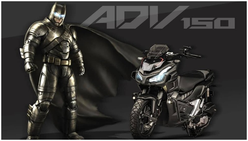 Honda ADV 150 Modifikasi Batman