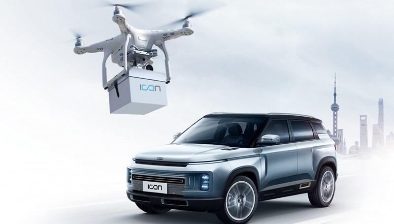 Pengiriman mobil dengan drone