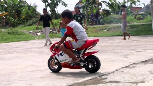 motor mini digunakan diperkampungan