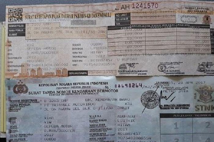 Pengesahan STNK, jika bayar pajak motor di Indomaret