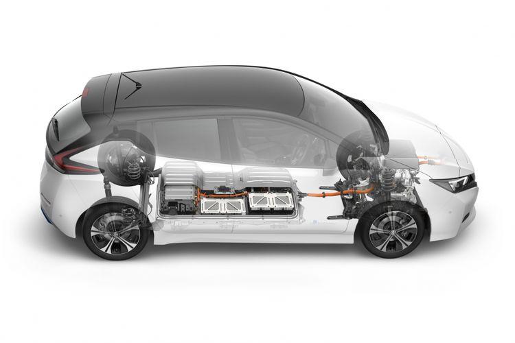 motor listrik Nissan Leaf