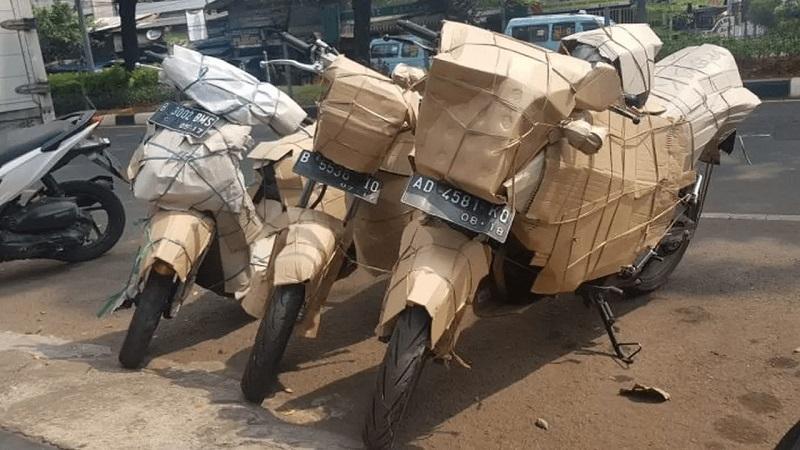 Cara kirim sepeda motor