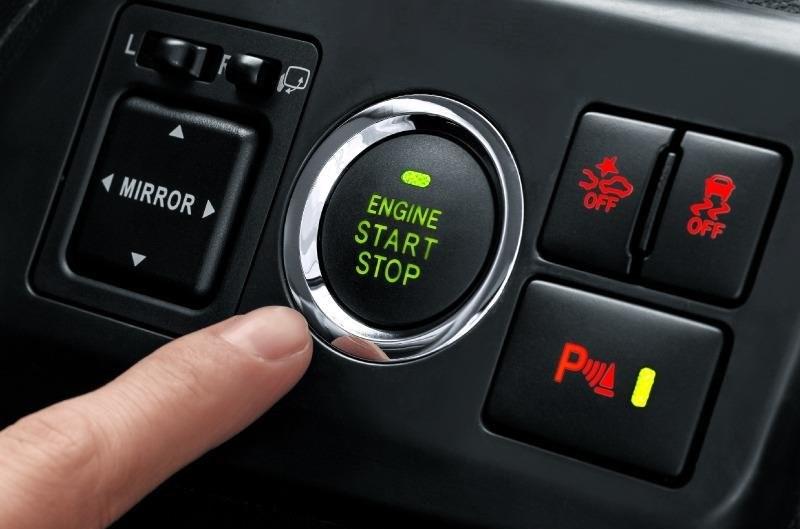 Start stop engine button