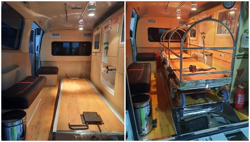 Fasilitas yang tersedia di APV Ambulans