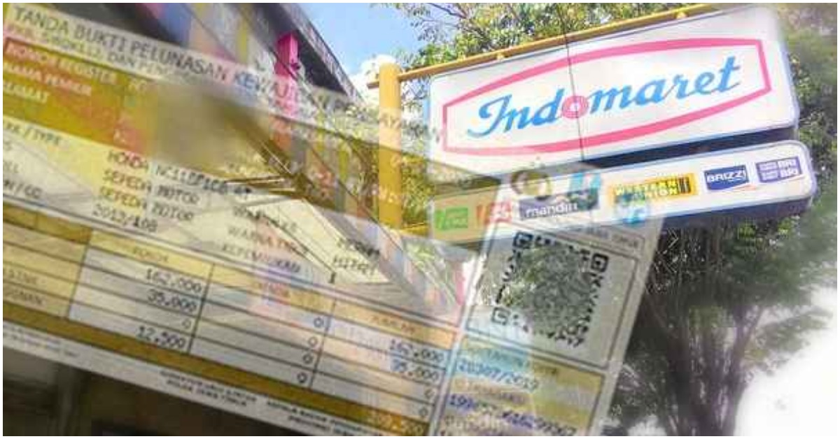 Bayar pajak motor di Indomaret