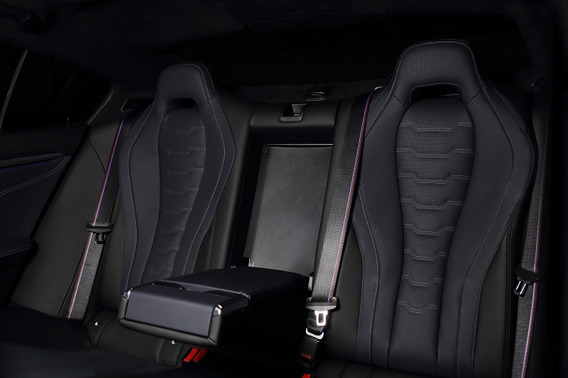 Konfigurasi tempat duduk di BMW 840i Gran Coupe