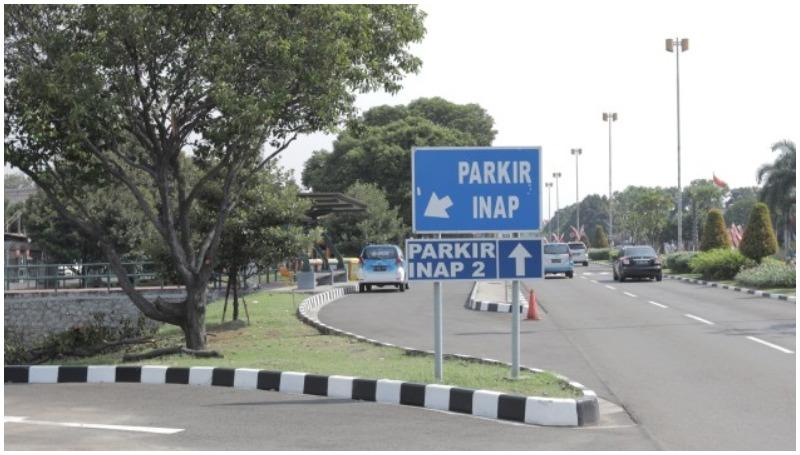 tarif parkir inap terminal 2 bandara Soekarno Hatta