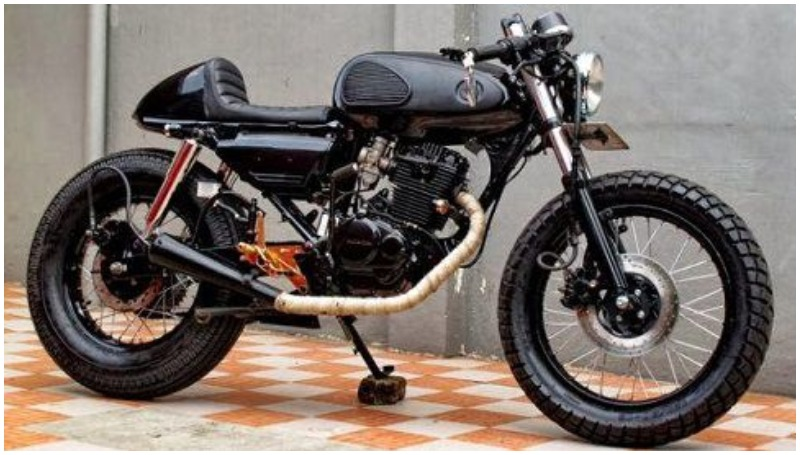 Honda Tiger modif Cafe Racer