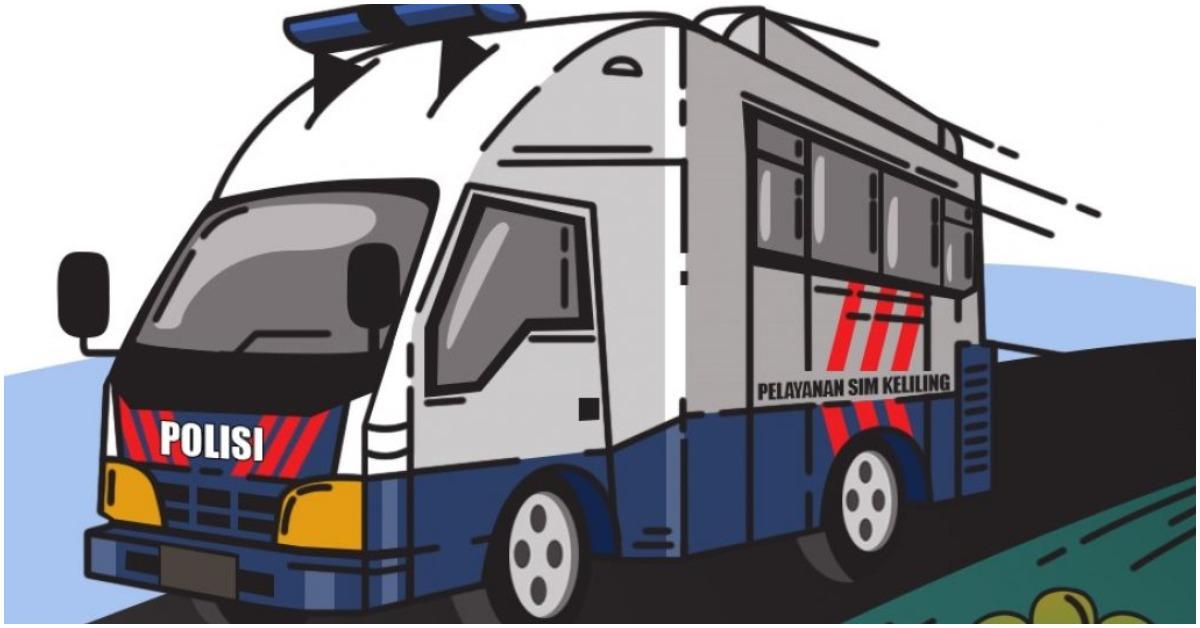 Ilustrasi layanan SIM keliling (NTMC Polri)