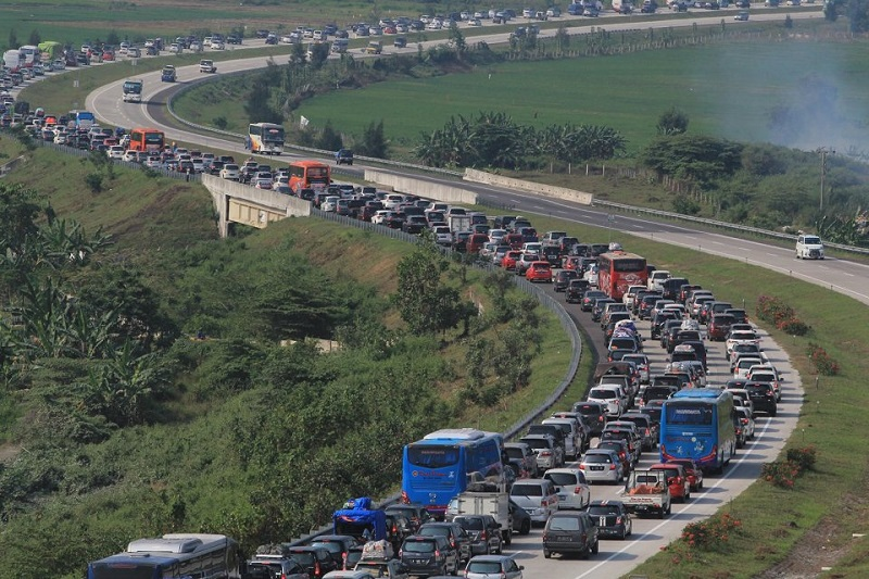 Momen mudik di Tol Trans Jawa