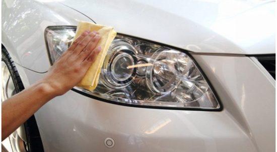cara membersihkan reflektor lampu mobil