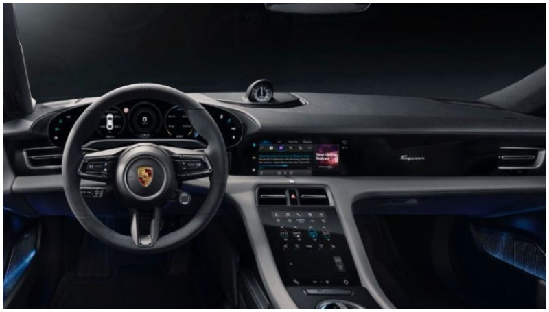 Apple Podcasts di Porsche Taycan