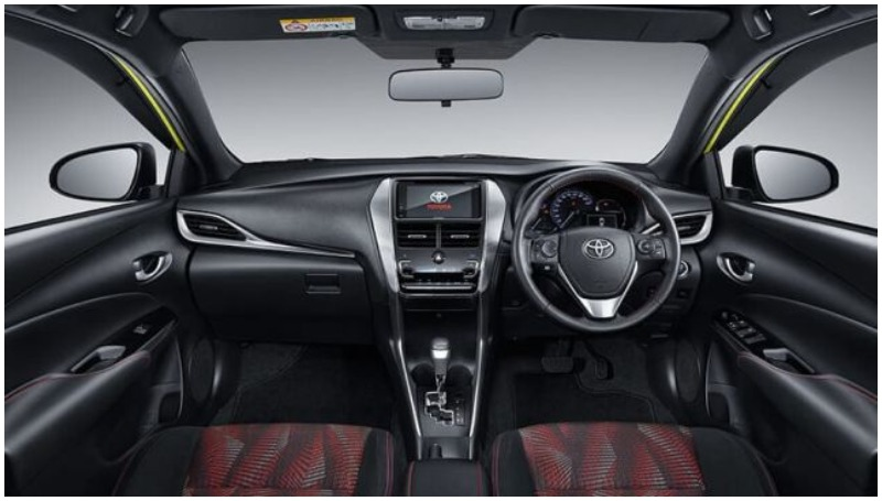 Interior Toyota Yaris facelift 2020