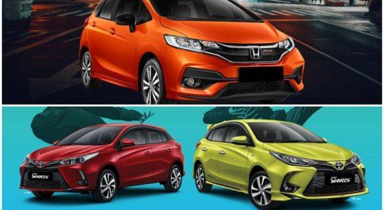 Komparasi Honda Jazz Vs Toyota Yaris facelift 2020