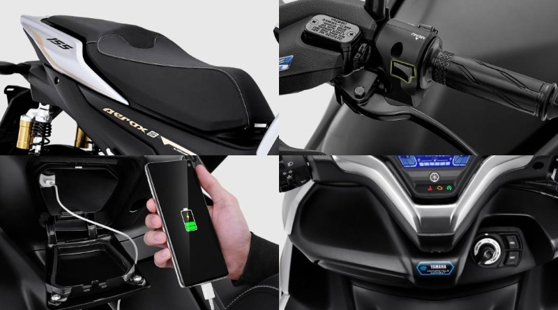 fitur yamaha aerox 155 connected