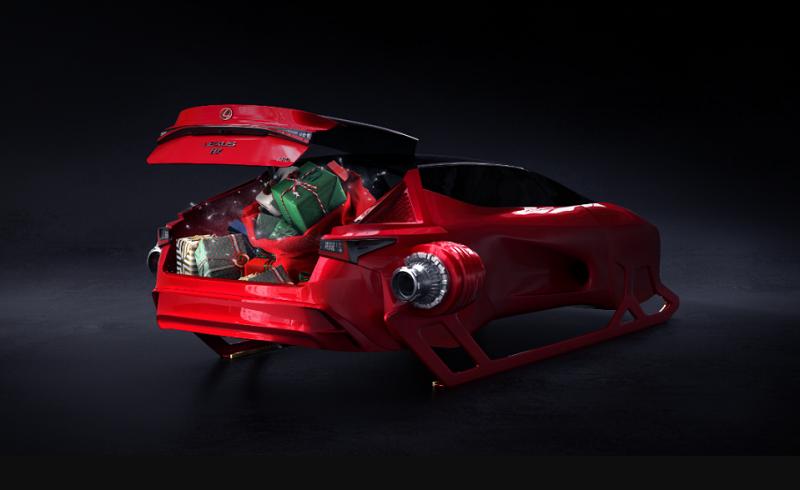 Lexus HX Sleigh Concept, kendaraan sinterklas