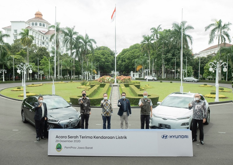 Hyundai Ioniq dan Kona Electric jadi mobil dinas Pemprov Jabar