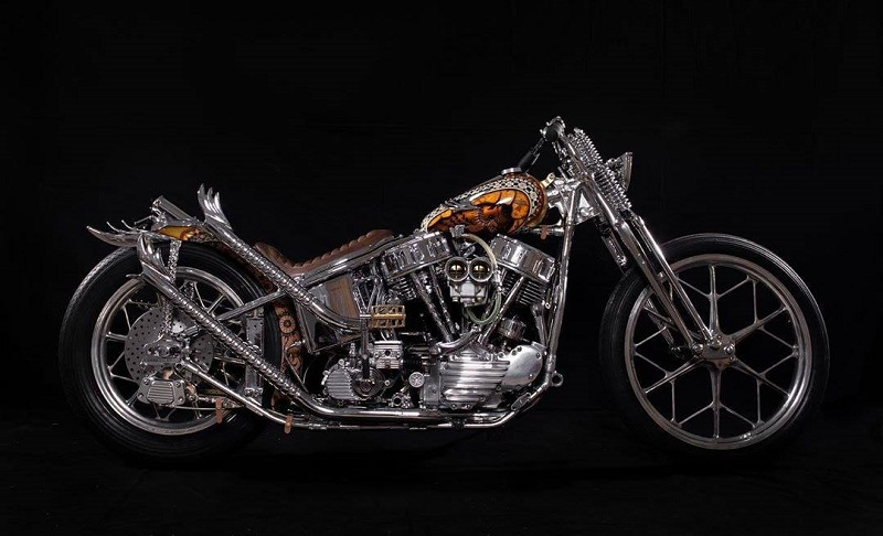 motor custom terbaik garuda queen lekha chopper