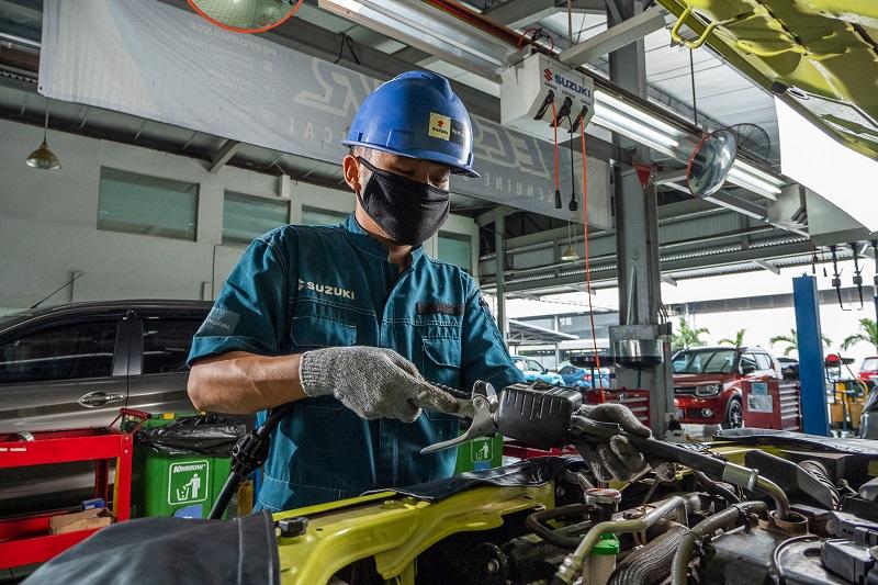 Lulus uji emisi mobil Suzuki