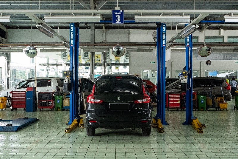 Perawatan di bengkel resmi Suzuki, supaya lulus uji emisi