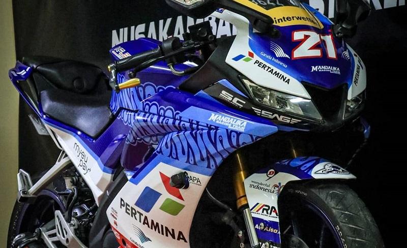 stiker decal livery mandalika racing team