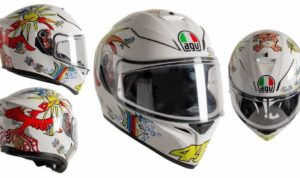 helm AGV K3 SV-S White Zoo