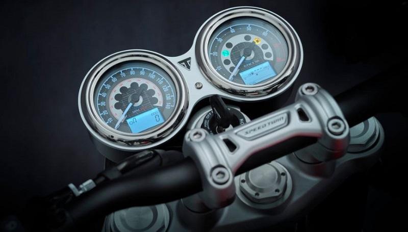 triumph speed twin 2021 - panel instrumen speedometer