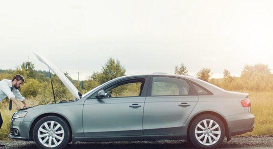 Mobil brebet saat digas